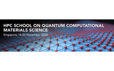 HPC Online Lectures on Quantum Computational Materials Science 16-18 November 2020